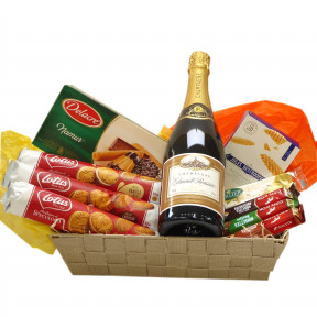 Belgian Candy Basket with Champagne Premier Cru