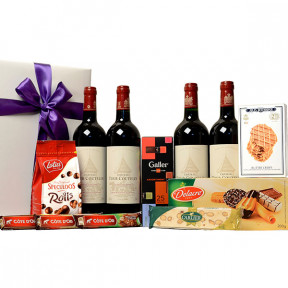 4 French top wines and Belgian sweets