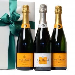 Trio Veuve Clicquot Brut and Demi-Sec as a gift