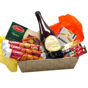Candy basket with Belgian beer Tripel