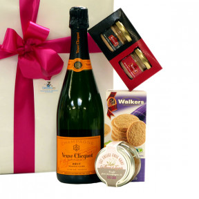 Veuve Clicquot and Foie Gras as a corporate gift