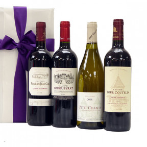 Four French TOP wines as a promotional gift