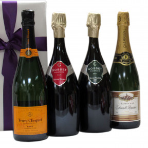 Four Top bubbles Veuve Clicquot Gosset and E. Roussin