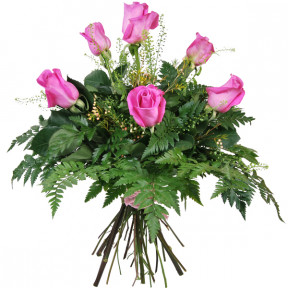 Bouquet of 6 pink roses