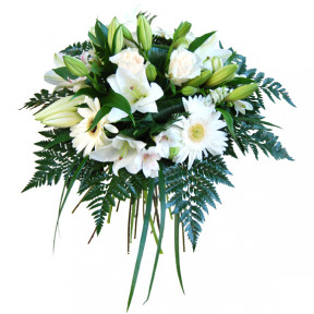 White deluxe flower bouquet (Medium)