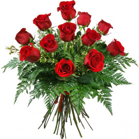 Bouquet of 12 roses love