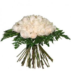 Bouquet of white roses (Medium)