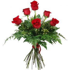 Bouquet of 6 red roses love