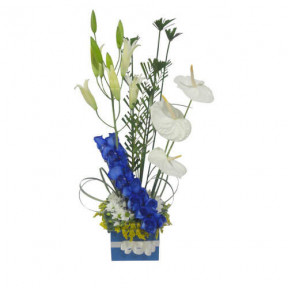 Arrangement With Blue Flowers-2