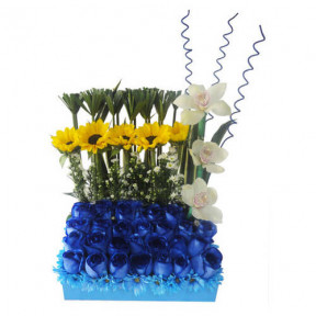 Blue Flowers Arrangement