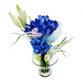 Arrangement With Blue Flowers-5