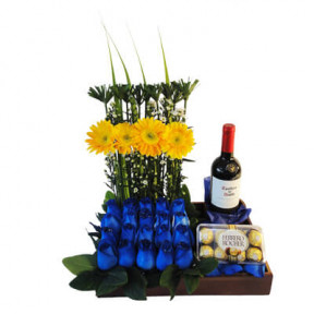 Blue Flowers Arrangement-1