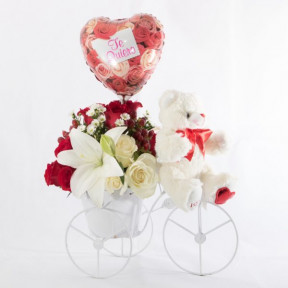 Floral Arrangement With Bike