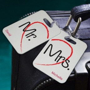 Personalized Couples Sojourn Luggage Tags