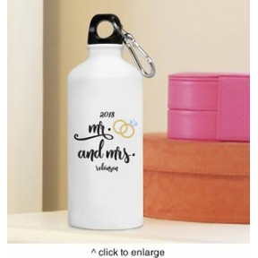 Personalized Mr. & Mrs. Water Bottle