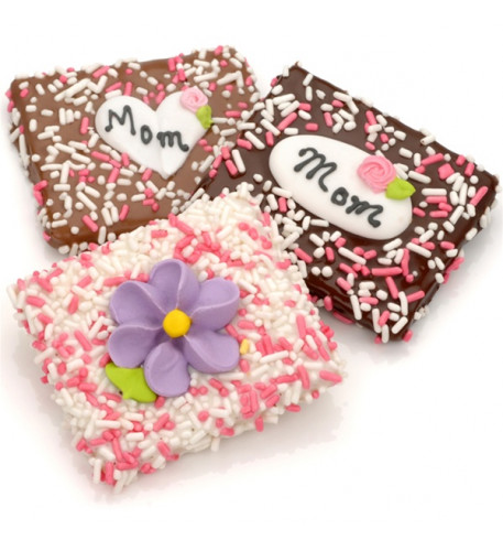 Mother's Day Chocolate Dipped Grahams, Individually Wrapped