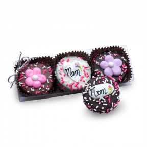 Clear Acrylic Gift Box Of 3 Mother's Day Oreos