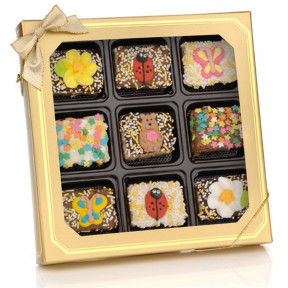 Spring Chocolate Dipped Mini Crizpy  Window Gift Box Of 9