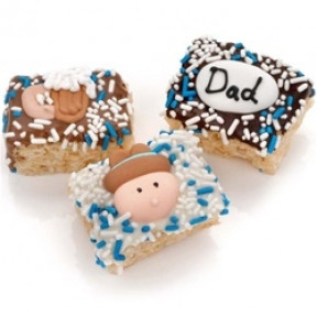 Father's Day Chocolate Dipped Mini Crizpy - Individually Wrapped