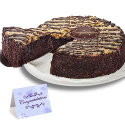 German Chocolate Congratulation Cake