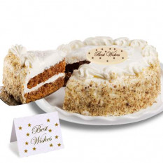 "Carrot ""Best Wishes"" Cake"