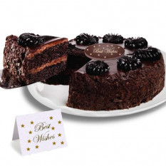 "Chocolate Mousse Torte ""Best Wishes"" Cake"