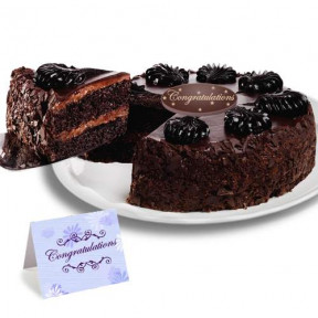 Chocolate Mousse Torte Congratulation Cake