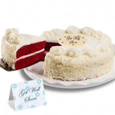 "Red Velvet Chocolate ""Get Well Soon"" Cake"