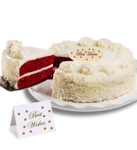 Red Velvet Chocolate Best Wishes Cake