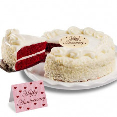 "Red Velvet Chocolate ""Anniversary"" Cake"
