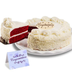 Red Velvet Chocolate Congratulation Cake