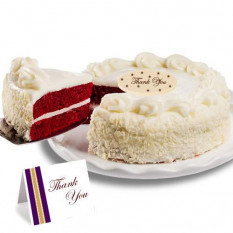 "Red Velvet Chocolate  ""Thank you"" Cake"