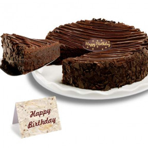 Birthday -Triple Chocolate Enrobed Brownie   Cake
