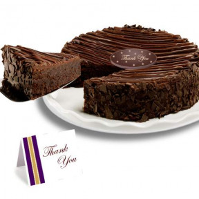 Triple Chocolate Enrobed Brownie  Thank you Cake