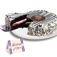 "Black and White Mousse ""Just Because"" Cake"