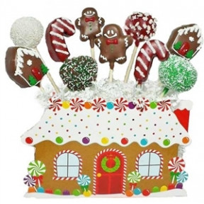Cake Pops - Gingerbread House Bouquet
