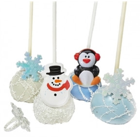 Cake Pops - Party Rings, Winter Theme