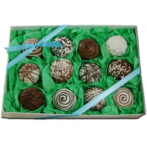 Cake Truffles - Classic Designs, Gift Box of 12