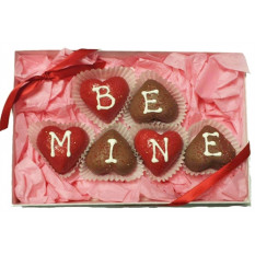 Cake Truffles - Heart Shaped, Gift Box of 6