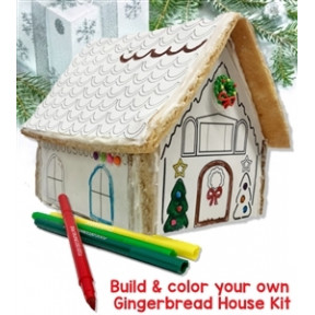 Build & Color Your Own Gingerbread House Kit
