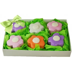 Brownie Bites - Flowers Gift Box Of 6