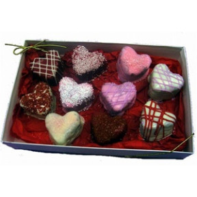 Brownie Bites - Hearts Gift Box Of 12