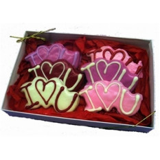 "Hand Decorated ""I Love You"" Cookies Gift Box"
