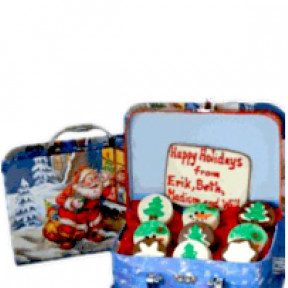 Oreo Cookie Santa Gift Box
