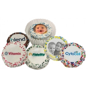 Oreo® Photo Or Logo Cookies W/ Sprinkle Borders, Dozen