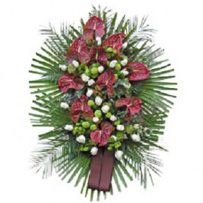 Wreath Anthurium And Roses