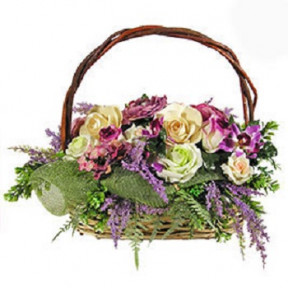 Silk Lilac Basket - 1
