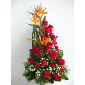 Traditional Arrangement Of Roses (12 ROSES)
