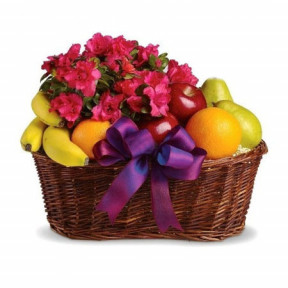 Fruit basket and Azalea