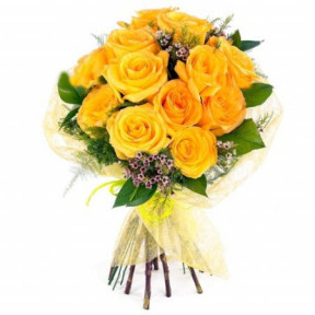 Bouquet of 13 sunny roses